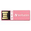 Verbatim® Clip-It USB 2.0 Flash Drive, 4GB, Pink VER97549