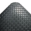Industrial Deck Plate Anti-Fatigue Mat, Vinyl, 36 x 60, Black