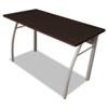 """<strong>Linea Italia®</strong><br />Trento Line Rectangular Desk, 47.25"""" x 23.63"""" x 29.5"""", Mocha/Gray"""