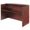 "<strong>Alera®</strong><br />Alera Valencia Series Reception Desk with Transaction Counter, 71"" x 35.5"" x 29.5"" to 42.5"", Mahogany"