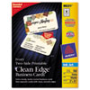 Avery® Rounded Two-Sided Clean Edge Business Cards, Inkjet, 2 x 3-1/2, Ivory, 160/Pack AVE88221