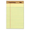 TOPS® The Legal Pad Ruled Perforated Pads, Narrow, 5 x 8, Canary, Dozen TOP71501
