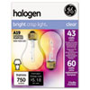 GE Halogen Bulb, Globe, 43 Watts, 2/Pack GEL78796