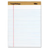 TOPS® The Legal Pad Ruled Perforated Pads, Legal/Wide, 8 1/2 x 11 3/4, White, Dozen TOP71533