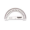 "Protractor, Acrylic, 6"" Ruler Edge, Transparent Tinted"