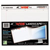 Roaring Spring® WIDE Landscape Format Writing Pad, College Ruled, 11 x 9 1/2, White, 75 Sheets ROA95510
