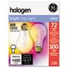 GE Halogen Bulb, Globe, 72 Watts GEL78798