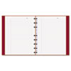 MiracleBind Notebook, College/Margin, 9 1/4 x 7 1/4, White, Red Cover, 75 Sheets