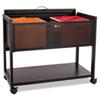 Safco® Locking Top Mobile Tub File, One-Shelf, 33-1/4w x 17d x 27h, Black SAF5353BL