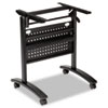 Alera® Alera Valencia Flip Training Table Base, Modesty Panel, 24-1/2w x 19-3/4d, Black - ALEVA734836BK
