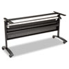 <strong>Alera®</strong><br />Alera Valencia Flip Training Table Base, Modesty Panel, 57.88 x 19.75 x 28.5, Black