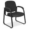 "Alera Genaro Series Half-Back Sled Base Guest Chair, 24.63"" x 26.63"" x 34"", Black Seat/Black Back, Black Base"