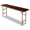 <strong>Alera®</strong><br />Wood Folding Table, Rectangular, 71 7/8w x 17 3/4d x 29 1/8h, Mahogany