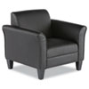 Alera Reception Lounge Sofa Series Club Chair, 35.43'' x 30.70'' x 32.28'', Black Seat/Black Back, Black Base
