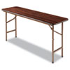 <strong>Alera®</strong><br />Wood Folding Table, Rectangular, 59 7/8w x 17 3/4d x 29 1/8h, Mahogany