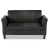 Alera Reception Lounge Furniture, Loveseat, 55-1/2w x 31-1/2d x 32h, Black