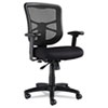 <strong>Alera®</strong><br />Alera Elusion Series Mesh Mid-Back Swivel/Tilt Chair, Supports up to 275 lbs, Black Seat/Black Back, Black Base