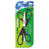"KleenEarth Recycled Scissors, 8"" Long, Black, 2/Pack"