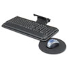 Adjustable Keyboard Platform with Swivel Mouse Tray, 18-1/2w x 9-1/2d, Black