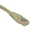 CAT5E 350MHZ MOLDED PATCH CABLE, RJ45 (M/M), 2 FT., GRAY