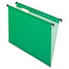 Poly Laminate Hanging Folders, Legal, 1/5 Tab, Bright Green, 20/Box