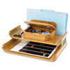 "Safco Bamboo Deluxe Organizer - 5 Compartment(s) - 7.5"" Height x 15"" Width x 12.3"" Depth - Natural - SAF3644NA"