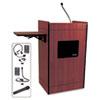 AmpliVox® Multimedia Smart Computer Wireless Lectern, 25-1/2w x 20-1/4d x 43-1/2h,Mahogany APLSW3230MH