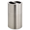 Safco® Dual Recycling Receptacle, 30gal, Stainless Steel SAF9931SS