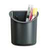 <strong>Universal®</strong><br />Recycled Plastic Cubicle Pencil Cup, 4 1/4 x 2 1/2 x 5, Charcoal