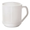NatureHouse® Reusable CPLA Corn Plastic Mug, Squat Wide, 10oz, White SVARP16