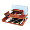 """Safco Bamboo Deluxe Organizer - 7.5"""" Height x 15"""" Width x 12.3"""" Depth - Cherry - Bamboo - 1Each SAF3644CY"""