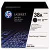 HP 38A (Q1338D) 2-pack Black Original LaserJet Toner Cartridges - Laser - 12000 Page HEWQ1338D