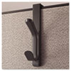 <strong>Universal®</strong><br />Recycled Cubicle Double Coat Hook, Plastic, Charcoal