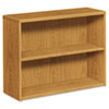 <strong>HON®</strong><br />10500 Series Laminate Bookcase, Two-Shelf, 36w x 13-1/8d x 29-5/8h, Harvest