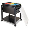 <strong>Advantus</strong><br />Folding Mobile File Cart, 14.5w x 18.5d x 21.75h, Clear/Black