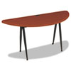 "Balt iFlex Large Half Round - Cherry and Black - Half-round Top - Four Leg Base - 4 Legs - 62"" Table BLT90120"