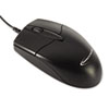 Mid-Size Optical Mouse, USB 2.0, Left/Right Hand Use, Black
