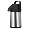 Coffee Pro Direct Brew/Serve Insulated Airpot with Carry Handle, 2200mL, Stainless Steel OGFCPAP22