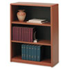 Safco® Value Mate Series Metal Bookcase, Three-Shelf, 31-3/4w x 13-1/2d x 41h, Cherry SAF7171CY