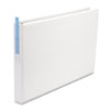"Legal-Size Round Ring Binder with Label Holder, 1"" Capacity, 11 x 17, White"