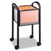 Safco® Impromptu Open File Cart, 20-1/4 x 19 x 29-3/4, Black SAF5375BL