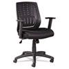 OIF Manager's Synchro-Tilt Mesh Mid-Back Chair , Height Adjustable T-Bar Arms, Black OIFEM4217