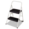 Cosco® 2-Step Folding Steel Step Stool, 200lbs, 17 3/8w x 18d x 28 1/8h, Cool Gray - 11-135CLGG1