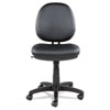 <strong>Alera®</strong><br />Alera Interval Series Swivel/Tilt Bonded Leather Task Chair, Supports up to 275 lbs, Black Seat/Black Back, Black Base