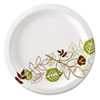 <strong>Dixie®</strong><br />Pathways Soak-Proof Shield Paper Plates, 8 1/2, Grn/Burg, 125/Pk, 4 Pks/Ct