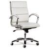 Alera® Alera Neratoli Mid-Back Swivel/Tilt Chair, White Faux Leather, Chrome Frame ALENR4206