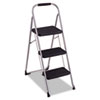 3-Step Big Step Folding Stool, 200 lb Capacity, 17.75w x 28d x 45.63h, Light Gray