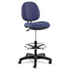 "Alera Interval Series Swivel Task Stool, 33.26"" Seat Height, Supports up to 275 lbs, Marine Blue Seat/Marine Blue Back"