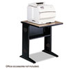 <strong>Safco®</strong><br />Fax/Printer Stand w/Reversible Top, 23.5w x 28d x 30h, Medium Oak/Black
