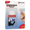 """Velcro® Removable Hook & Loop Fasteners, 5ft tape & 12 Coins (7/8""""), White VEK91640"""